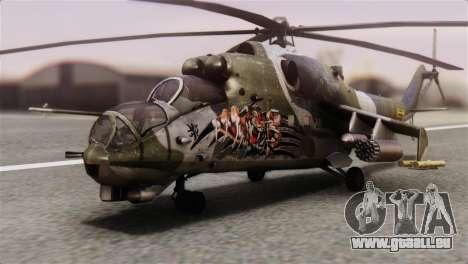 Mil Mi-24V Czech Air Force Tigermeet für GTA San Andreas