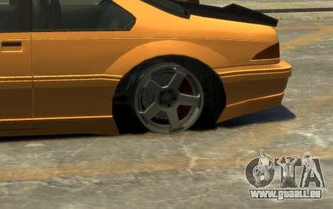 Vapid Fortune Drift pour GTA 4 vue de dessus