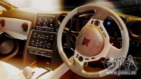 Nissan GT-R 2015 für GTA San Andreas Rückansicht