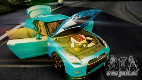 Nissan GT-R 2015 pour GTA San Andreas vue intérieure