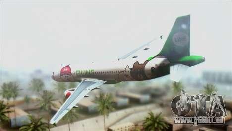 Airbus A320-200 AirAsia Line für GTA San Andreas linke Ansicht