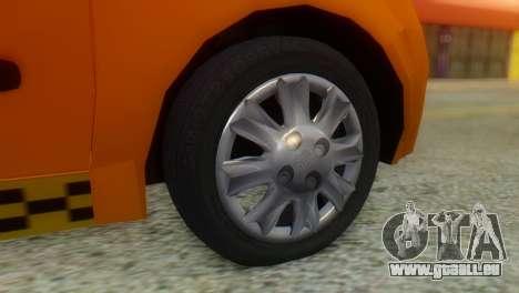Tiba Taxi v1 pour GTA San Andreas sur la vue arrière gauche