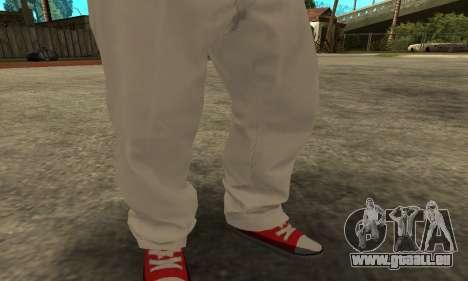 Skin Claude [HD] pour GTA San Andreas troisième écran