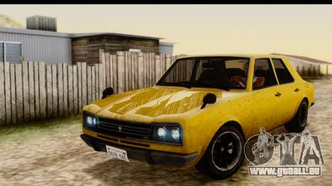 GTA 5 Vulcar Warrener SA Style pour GTA San Andreas vue arrière