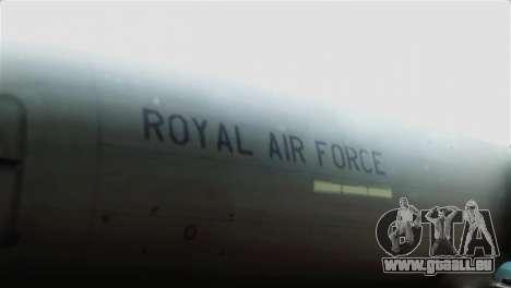 Boeing 737-800 Royal Air Force für GTA San Andreas Rückansicht