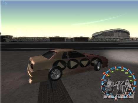 Simple compteur de vitesse pour GTA San Andreas septième écran