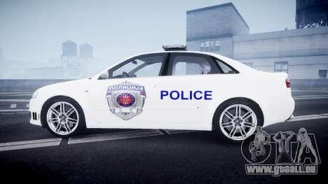 Audi RS4 Serbian Police [ELS] pour GTA 4 est une gauche