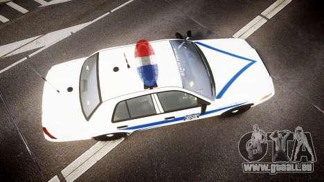 Ford Crown Victoria Indiana State Police [ELS] für GTA 4 rechte Ansicht