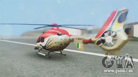 Indian Air Force EC-135 Dhruv SARANG Skin pour GTA San Andreas laissé vue