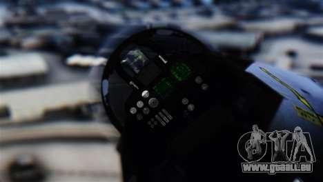F-14D Super Tomcat Halloween Pumpkin für GTA San Andreas Rückansicht