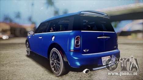 Mini Cooper Clubman 2011 Sket Dance pour GTA San Andreas laissé vue