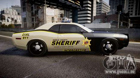 Dodge Challenger MCSO [ELS] für GTA 4 linke Ansicht