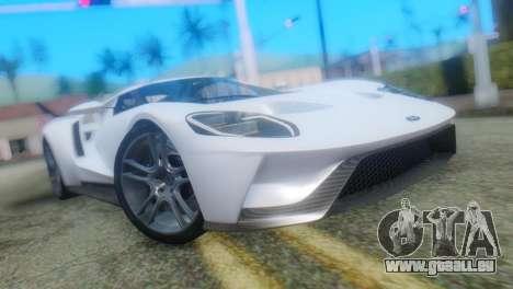 Ford GT 2017 für GTA San Andreas