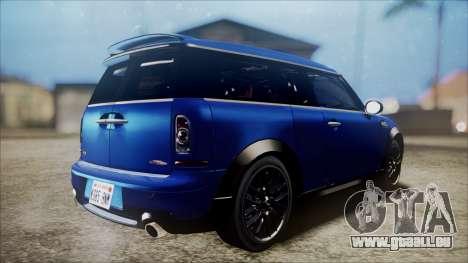 Mini Cooper Clubman 2011 Sket Dance pour GTA San Andreas vue de droite