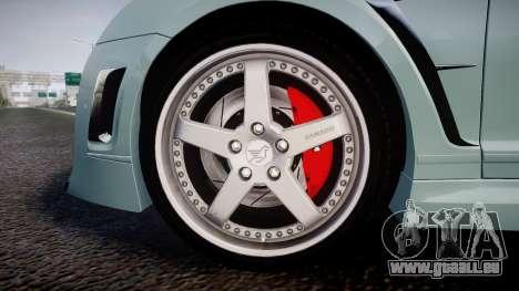 Bentley Continental GT Platinum Motorsports pour GTA 4 Vue arrière
