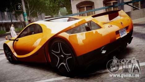 GTA Spano 2013 pour GTA 4 Vue arrière de la gauche