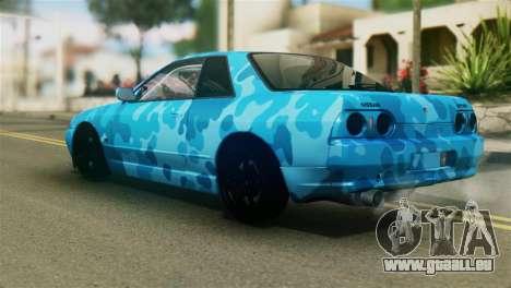 Nissan Skyline R32 Camo Drift pour GTA San Andreas laissé vue