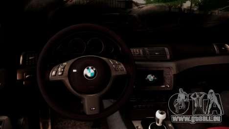 BMW M3 E46 v2 pour GTA San Andreas vue de dessus