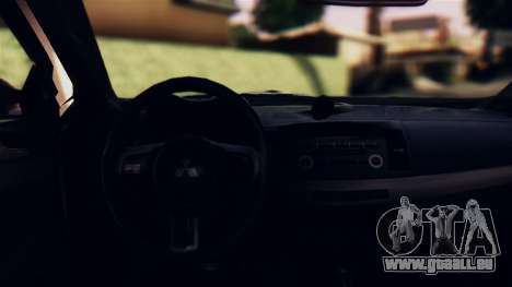 Mitsubishi Lancer Evo X 2011 Rally Bohemia pour GTA San Andreas vue intérieure