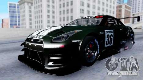 Nissan GT-R (R35) GT3 2012 PJ2 pour GTA San Andreas vue de côté