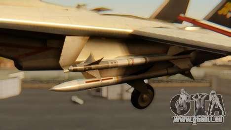 F-14A Tomcat VF-202 Superheats pour GTA San Andreas vue de droite