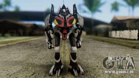 Soldier Jet Skin from Transformers pour GTA San Andreas deuxième écran