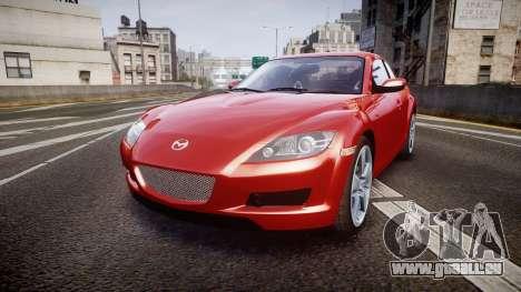 Mazda RX-8 2006 v3.2 Advan tires pour GTA 4