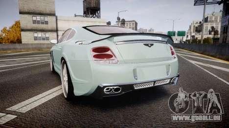 Bentley Continental GT Platinum Motorsports pour GTA 4 Vue arrière de la gauche