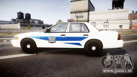 Ford Crown Victoria Indiana State Police [ELS] pour GTA 4 est une gauche