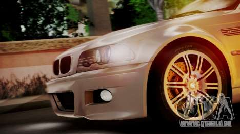 BMW M3 E46 v2 pour GTA San Andreas vue intérieure