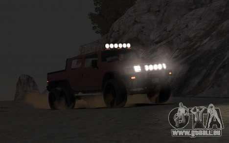 Mammoth Patriot 6x6 pour GTA 4 est un droit