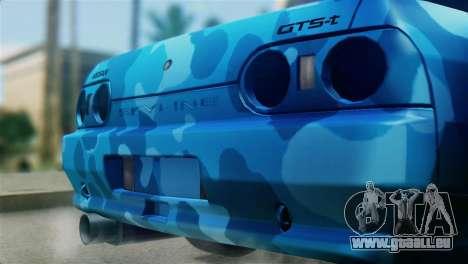 Nissan Skyline R32 Camo Drift pour GTA San Andreas vue arrière