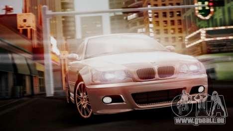 BMW M3 E46 v2 pour GTA San Andreas vue arrière