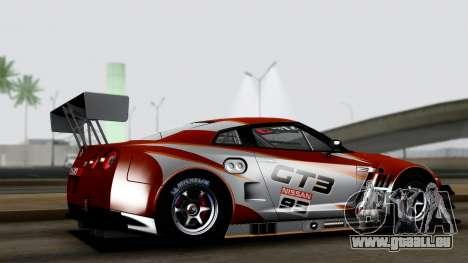 Nissan GT-R (R35) GT3 2012 PJ3 pour GTA San Andreas laissé vue