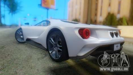 Ford GT 2017 für GTA San Andreas linke Ansicht