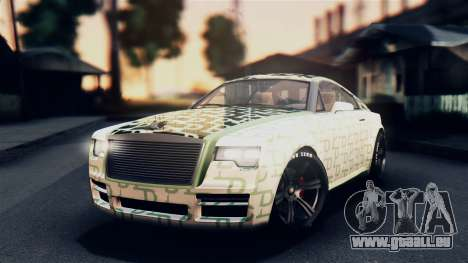 GTA 5 Enus Windsor IVF pour GTA San Andreas vue de dessus