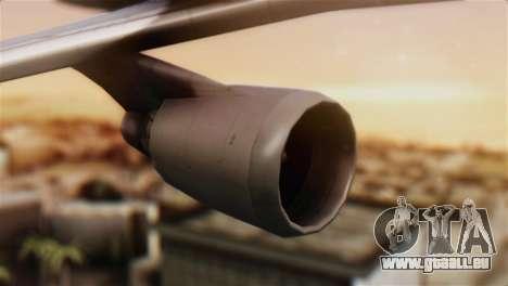 Boeing 747-400 Garuda Indonesia Sky Team für GTA San Andreas rechten Ansicht