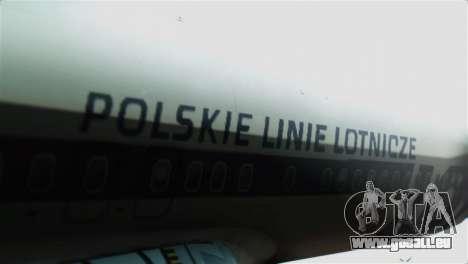 Boeing 737-800 Polskie Linie Lotnicze LOT pour GTA San Andreas vue arrière