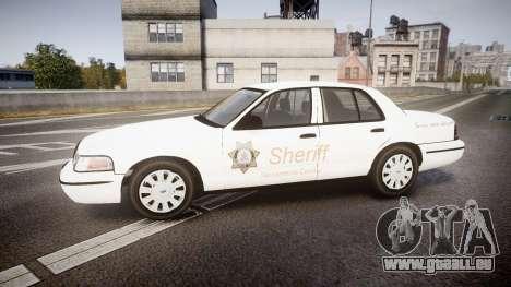 Ford Crown Victoria Sacramento Sheriff [ELS] pour GTA 4 est une gauche