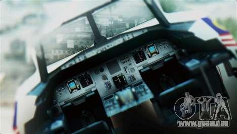 Airbus A320-200 AirAsia Line für GTA San Andreas Rückansicht