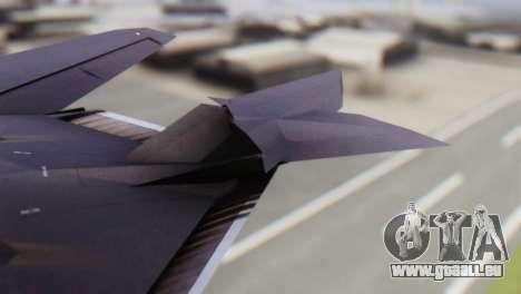 Lockheed F-117 Nighthawk ACAH pour GTA San Andreas sur la vue arrière gauche