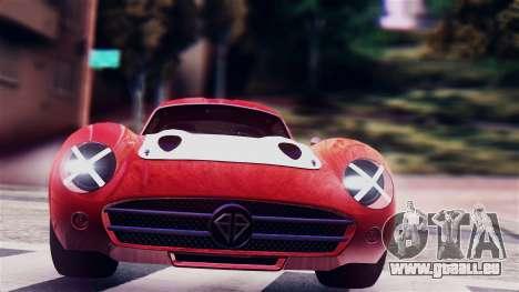 GTA 5 Benefactor Stirling GT für GTA San Andreas zurück linke Ansicht