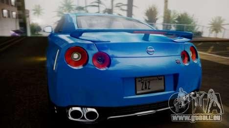 Nissan GT-R 2015 pour GTA San Andreas vue de dessous
