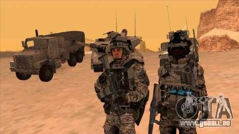 BF3 Montes pour GTA San Andreas deuxième écran