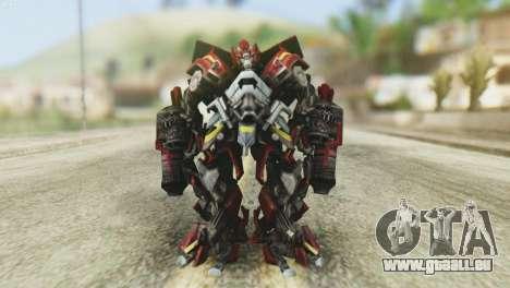Ironhide Skin from Transformers v1 pour GTA San Andreas deuxième écran