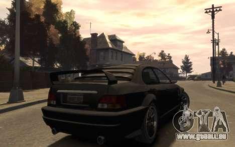 La suprématie de la Sentinelle (XS) 4-portes pour GTA 4 Vue arrière