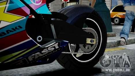 Bike Bati 2 HD Skin 2 für GTA 4 Rückansicht