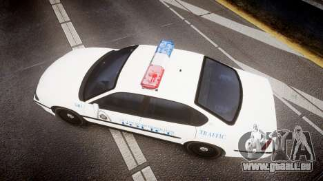 Chevrolet Impala Metropolitan Police [ELS] Traf für GTA 4 rechte Ansicht