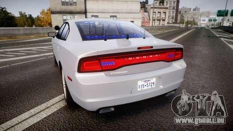 Dodge Charger Traffic Patrol Unit [ELS] bl pour GTA 4 Vue arrière de la gauche