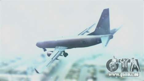 Boeing 737-800 Royal Air Force für GTA San Andreas linke Ansicht